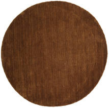 Handloom - Brown Rug Ø 150 Modern Round Brown (Wool, India)
