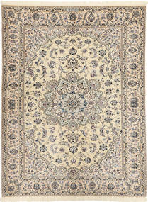 Nain 6La Habibian Rug 144X198 Authentic  Oriental Handknotted Light Brown/Beige (Wool/Silk, Persia/Iran)