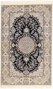 Nain 6La Habibian Dywan 131X204 Orientalny Tkany Ręcznie Jasnoszary/Beżowy (Wełna/Jedwab, Persja/Iran)