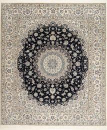 Nain 6La Habibian Matto 255X304 Itämainen Käsinsolmittu Vaaleanharmaa/Vaaleanruskea Isot (Villa/Silkki, Persia/Iran)