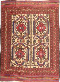 キリム ゴルバリヤスタ 絨毯 161X266 オリエンタル 手織り 濃い茶色/深紅色の (ウール, アフガニスタン)
