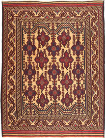 Kilim Golbarjasta Rug 197X262 Authentic  Oriental Handwoven Brown/Dark Red (Wool, Afghanistan)