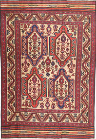 Kilim Golbarjasta Rug 193X281 Authentic  Oriental Handwoven Dark Red/Dark Brown (Wool, Afghanistan)