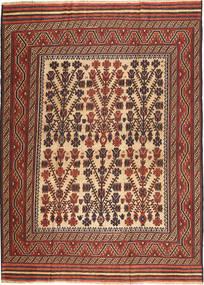 Kilim Golbarjasta Tappeto 212X285 Orientale Tessuto A Mano Marrone Scuro/Rosso Scuro (Lana, Afghanistan)