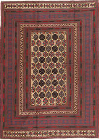 Kilim Golbarjasta Rug 189X260 Authentic Oriental Handwoven Brown/Dark Red (Wool, Afghanistan)