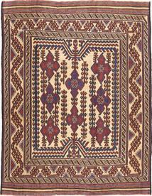 キリム ゴルバリヤスタ 絨毯 198X256 オリエンタル 手織り 濃い茶色/深紅色の (ウール, アフガニスタン)