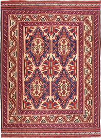 Kilim Golbarjasta Rug 200X277 Authentic  Oriental Handwoven Brown/Dark Purple (Wool, Afghanistan)