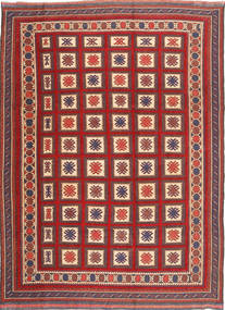 Kilim Golbarjasta Rug 199X280 Authentic  Oriental Handwoven Dark Red/Rust Red (Wool, Afghanistan)