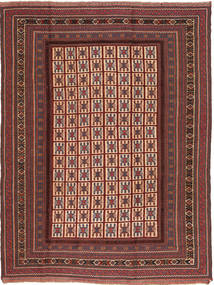 Kilim Golbarjasta Rug 195X260 Authentic  Oriental Handwoven Brown/Dark Brown (Wool, Afghanistan)