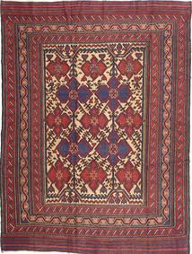 Kilim Golbarjasta Dywan 200X274 Orientalny Tkany Ręcznie Ciemnofioletowy/Ciemnoczerwony (Wełna, Afganistan)