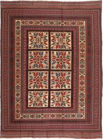 Kilim Golbarjasta Tappeto 197X275 Orientale Tessuto A Mano Rosso Scuro/Marrone Scuro (Lana, Afghanistan)