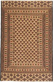 Kelim Golbarjasta Matta 126X190 Äkta Orientalisk Handvävd Mörkbeige/Mörkbrun (Ull, Afghanistan)