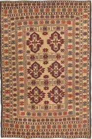 Kelim Golbarjasta Matta 129X202 Äkta Orientalisk Handvävd Mörkbrun/Ljusbrun/Mörkbeige (Ull, Afghanistan)