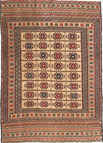 Kilim Golbarjasta Rug 130X185 Authentic  Oriental Handwoven Light Brown/Dark Brown (Wool, Afghanistan)