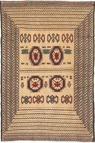 Kelim Golbarjasta Matto 130X196 Itämainen Käsinkudottu Tummanbeige/Tummanruskea (Villa, Afganistan)