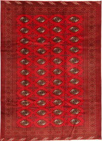 Turkaman Rug 208X293 Authentic  Oriental Handknotted Rust Red/Crimson Red/Dark Red (Wool, Persia/Iran)