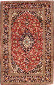 Keshan Rug 192X306 Authentic  Oriental Handknotted Brown/Light Brown (Wool, Persia/Iran)