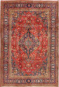 Mashad Vloerkleed 200X290 Echt Oosters Handgeknoopt Donkerrood/Roestkleur (Wol, Perzië/Iran)
