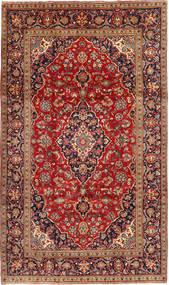 Keshan Matta 195X333 Äkta Orientalisk Handknuten Mörkröd/Roströd (Ull, Persien/Iran)