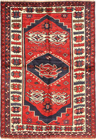 Lori Rug 153X220 Authentic  Oriental Handknotted Dark Red/Dark Purple (Wool, Persia/Iran)