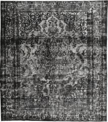 Colored Vintage Teppe 295X335 Ekte Moderne Håndknyttet Mørk Grå/Svart Stort (Ull, Persia/Iran)