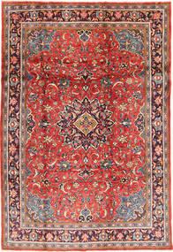 Sarough Matta 215X317 Äkta Orientalisk Handknuten Mörkröd/Roströd (Ull, Persien/Iran)