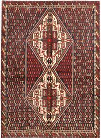 Afshar/Sirjan Matto 159X217 Itämainen Käsinsolmittu Ruskea/Musta (Villa, Persia/Iran)