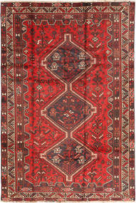 Shiraz Rug 197X291 Authentic  Oriental Handknotted Brown/Dark Brown (Wool, Persia/Iran)
