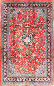 Sarouk Rug 221X342 Authentic  Oriental Handknotted Light Grey/Light Pink (Wool, Persia/Iran)