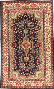 Kerman Rug 144X233 Authentic  Oriental Handknotted Black/Dark Red (Wool, Persia/Iran)