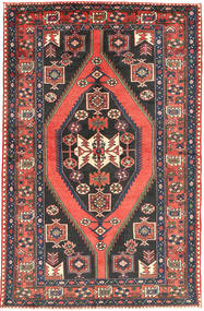 Nahavand Rug 133X210 Authentic  Oriental Handknotted Dark Grey/Orange (Wool, Persia/Iran)