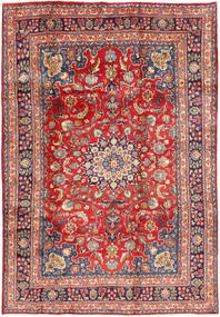 Mashad Rug 200X293 Authentic  Oriental Handknotted Dark Red/Rust Red (Wool, Persia/Iran)