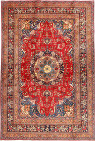 Mashad Rug 196X293 Authentic  Oriental Handknotted Rust Red/Brown (Wool, Persia/Iran)