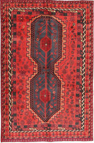 Lori Rug 155X246 Authentic  Oriental Handknotted Crimson Red/Dark Blue (Wool, Persia/Iran)