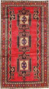 Hamadan Matto 156X287 Itämainen Käsinsolmittu Tummanruskea/Ruskea (Villa, Persia/Iran)