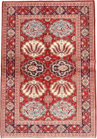 カシャン 絨毯 133X197 オリエンタル 手織り 錆色/茶 (ウール, ペルシャ/イラン)