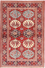 Keshan Rug 130X197 Authentic  Oriental Handknotted Light Pink/Dark Red (Wool, Persia/Iran)