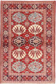 Keshan Rug 130X197 Authentic  Oriental Handknotted Dark Red/Beige (Wool, Persia/Iran)