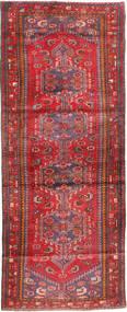 Hamadan Rug 113X310 Authentic Oriental Handknotted Hallway Runner Dark Red/Brown (Wool, Persia/Iran)