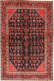 Hamadan Rug 136X203 Authentic  Oriental Handknotted Black/Brown (Wool, Persia/Iran)