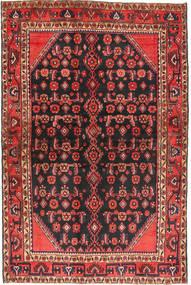 Hamadan Rug 136X203 Authentic  Oriental Handknotted Black/Brown (Wool, Persia/Iran)