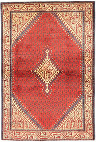 Sarouk Mir Rug 103X157 Authentic  Oriental Handknotted Rust Red/Beige (Wool, Persia/Iran)
