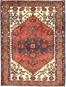 Saveh Vloerkleed 114X148 Echt Oosters Handgeknoopt Bruin/Donkerpaars (Wol, Perzië/Iran)