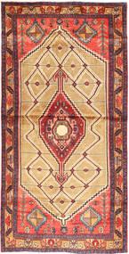 Hamadan Alfombra 118X237 Oriental Hecha A Mano Marrón/Marrón Claro (Lana, Persia/Irán)
