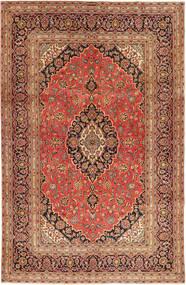 Keshan Matta 194X300 Äkta Orientalisk Handknuten Mörkbrun/Roströd (Ull, Persien/Iran)