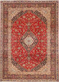 Keshan Rug 252X345 Authentic  Oriental Handknotted Rust Red/Dark Red/Dark Brown Large (Wool, Persia/Iran)