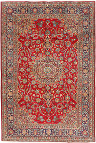 Mashad Rug 195X295 Authentic  Oriental Handknotted Brown/Rust Red (Wool, Persia/Iran)