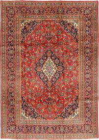Maschad Teppich 199X291 Echter Orientalischer Handgeknüpfter Rost/Rot/Dunkelrot (Wolle, Persien/Iran)