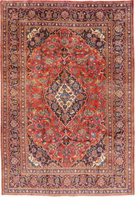 Mashad Rug 197X290 Authentic  Oriental Handknotted Dark Red/Rust Red (Wool, Persia/Iran)
