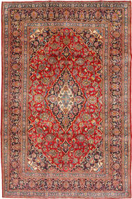 Mashad Rug 195X296 Authentic  Oriental Handknotted Brown/Rust Red (Wool, Persia/Iran)